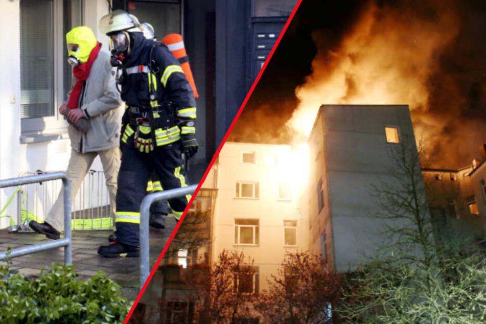 Kieler Feuerwehr im Dauereinsatz: Anwohner müssen aus Flammen gerettet werden