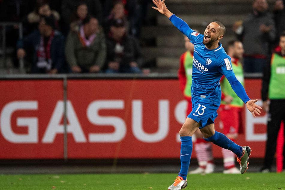 Grund zu feiern gab es für Sam in zwei Jahren beim VfL Bochum nicht all zu viel. In 43 Spielen schoss er magere zwei Tore und legte sechs weitere auf.