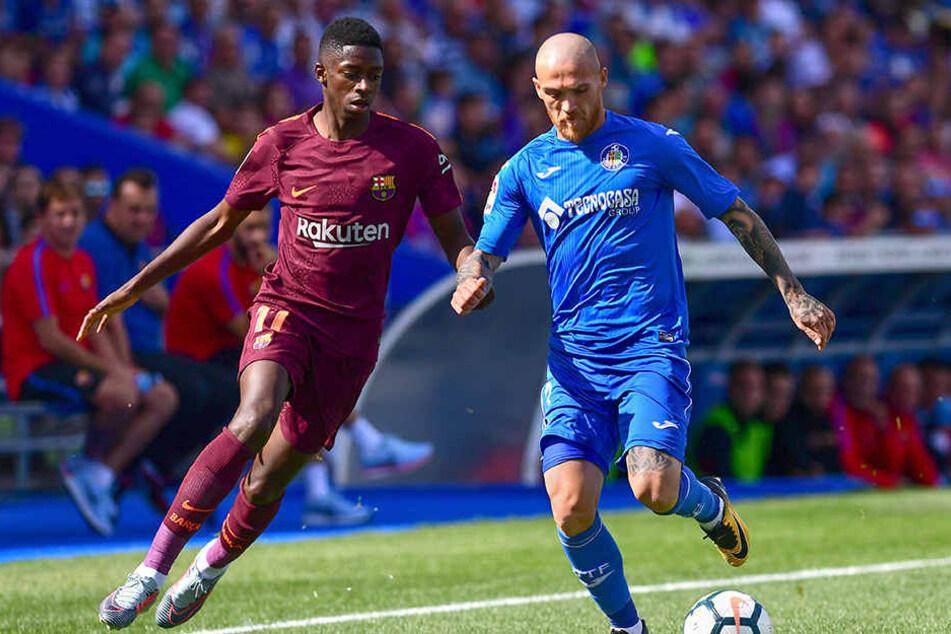 Ousmane Dembélé verletzte sich im Liga-Spiel gegen Getafe.