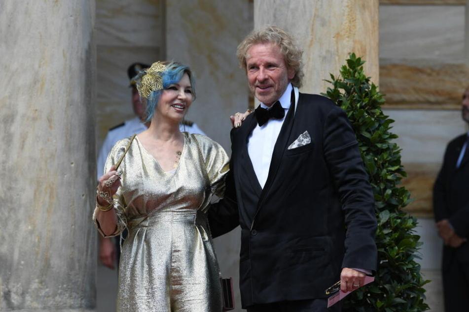 Entertainer Thomas Gottschalk und seine Frau Thea bei der Premiere der Bayreuther Festspiele 2018.