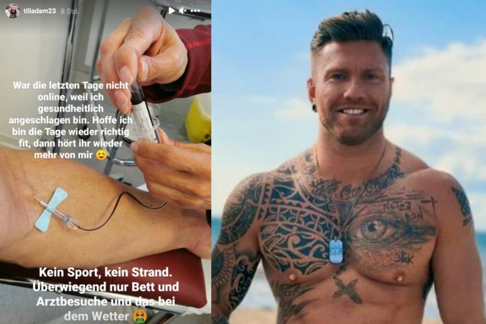 Till Adam (32) musste sich krankmelden.