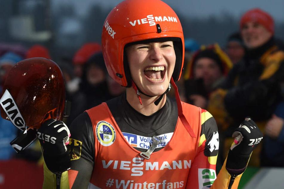Sächsische Rodlerin wird Vize-Weltmeisterin
