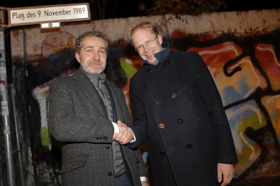Ephraim Gothe (li., SPD), Sozialstadtrat in Mitte, sieht in den meisten Fällen eine freiwillige Obdachlosigkeit der Flüchtlinge.