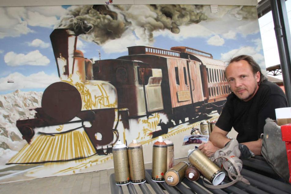 """Graffitikünstler Jens """"Tasso"""" Müller ist der bekannteste Sprayer der Region."""