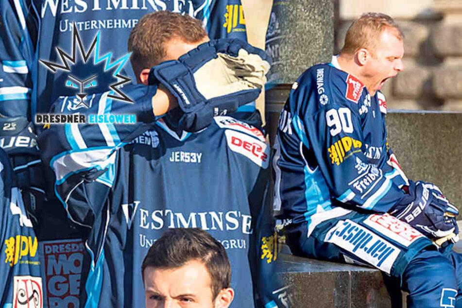 Dresdner Eislöwen nach Testspiel-Chaos: Müde und von der Sonne geblendet