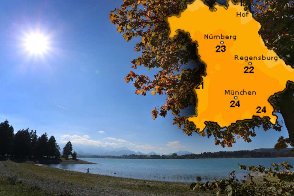 In Bayern wird es zum Wochenende hin spätsommerlich warm. (Bildmontage)