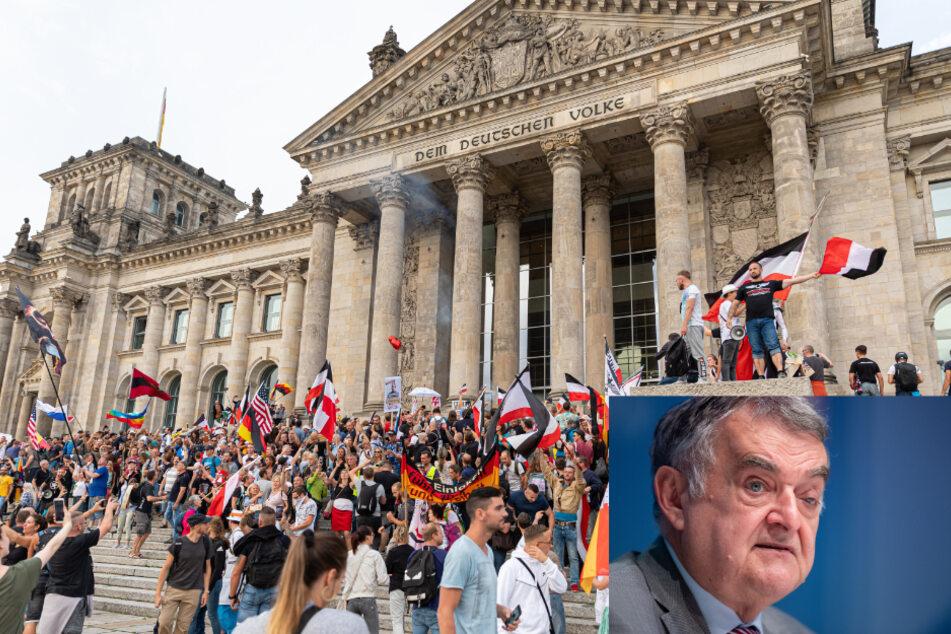 Kritik an Reichsflaggen: NRW-Innenminister nimmt Veranstalter in die Pflicht