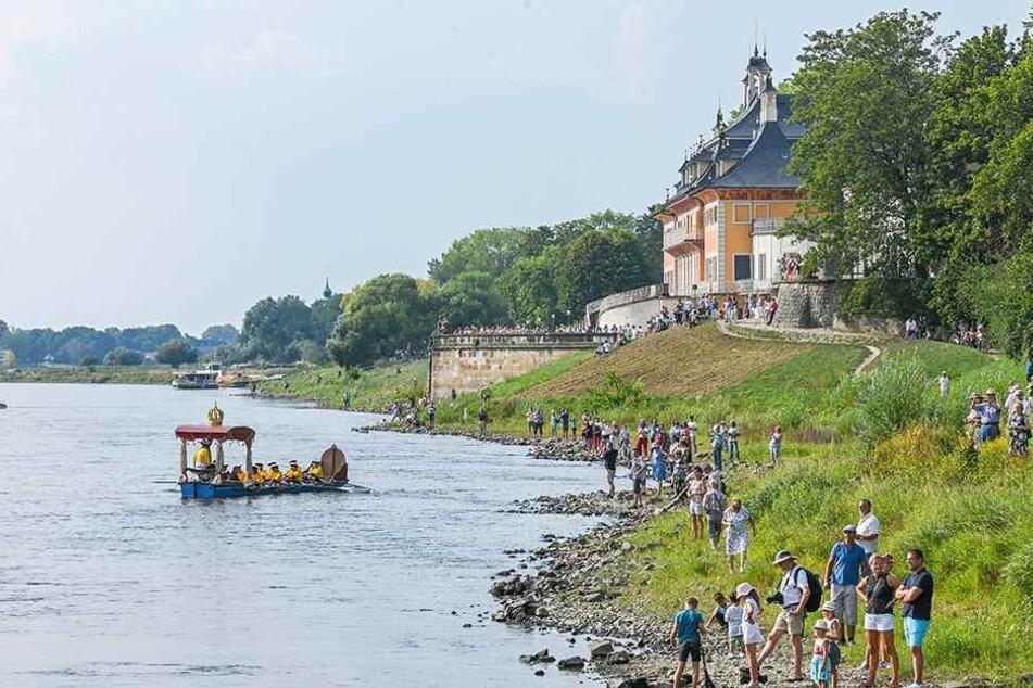 In Pillnitz wurde der Gondelzug gestern am Nachmittag erwartet.