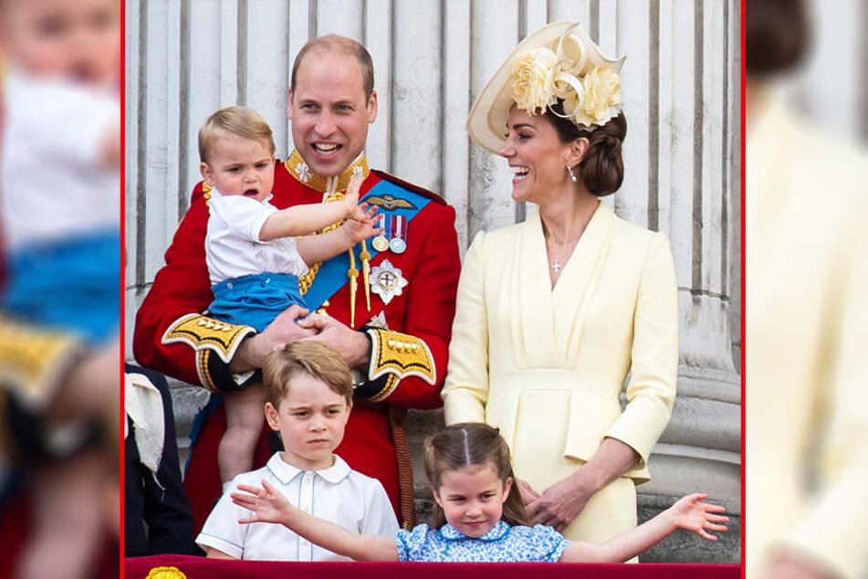 Heimlicher Star: Prinz Louis (1) war das erste Mal bei dem Spektakel dabei.