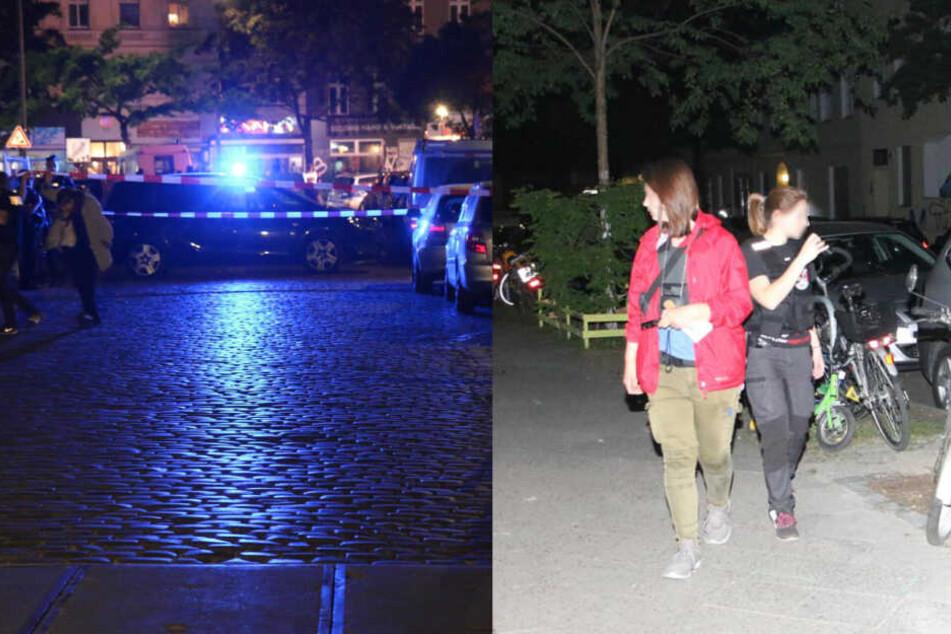 Bis in die frühen Morgenstunden suchte die Polizei nach Spuren, die den, oder die Täter überführen können.