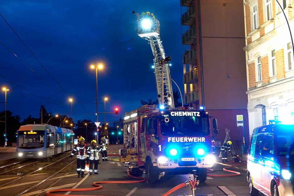 Feuerwehreinsatz bei Wohnungsbrand in Chemnitz