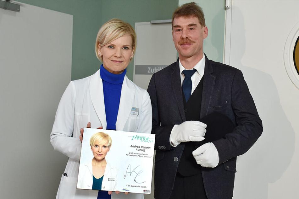 Die Serien-Ärztin und der Krankenpfleger: Andrea Kathrin Loewig (52) und Stephan Foltys (49).