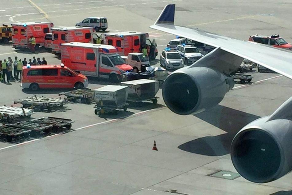 Großeinsatz am Frankfurter Flughafen! Maschine kann nicht abheben