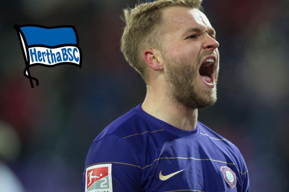 Jetzt ganz offiziell: Aue-Stürmer Köpke unterschreibt bei Hertha BSC