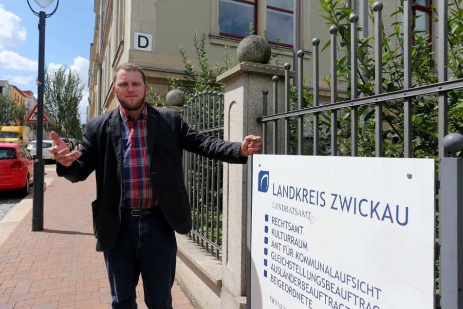 Benjamin Przybylla (36) fordert erneut den Rücktritt des Kreisvorstandes der  AfD Zwickau. Er selbst schließt einen Austritt aus.