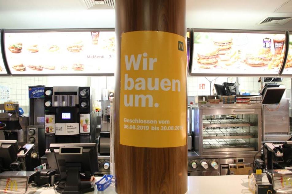 Das McDonald's Restaurant am Bielefelder Jahnplatz wird umgebaut.