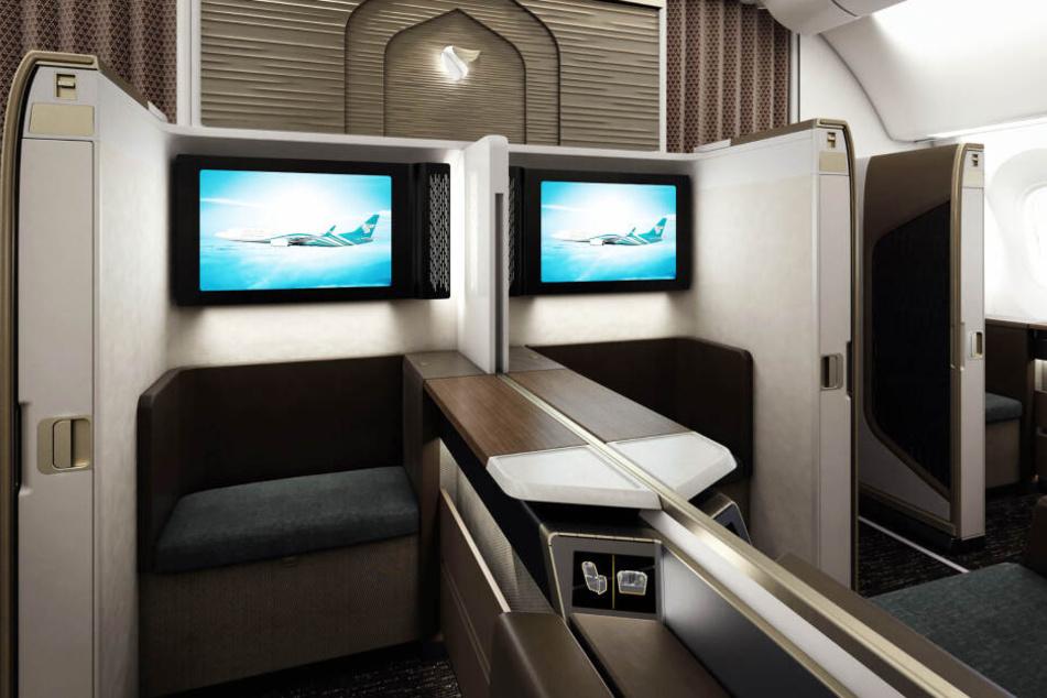 Oman Air möchte in der Zukunft auf neue Materialien in der First Class setzen.