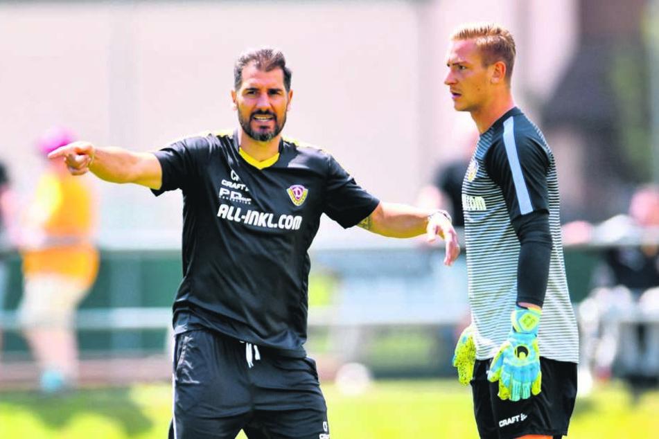 Cristian Fiel (links) lobte seinen Keeper.
