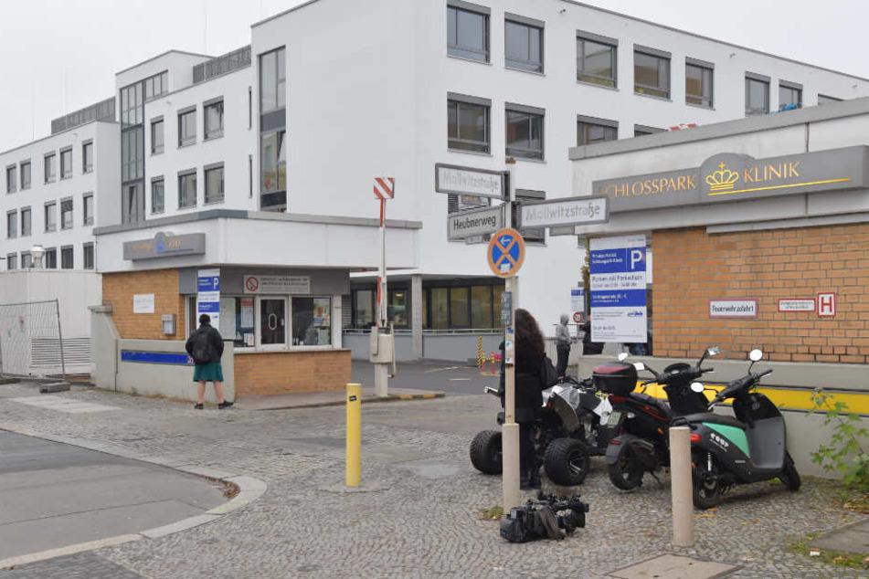 Blick auf die Berliner Schlosspark-Klinik, wo der Berliner Arzt Fritz von Weizsäcker erstochen wurde.