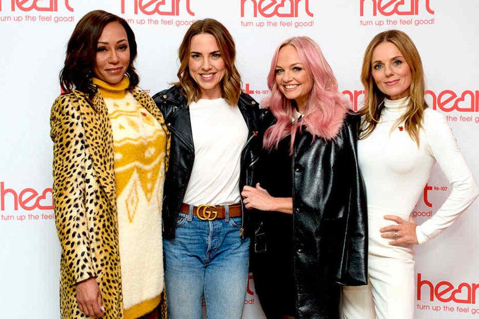 Melanie Brown, Melanie Chrisholm, Emma Bunton und Geri Halliwell (v.l.n.r.) gehen bald wieder auf Tournee.