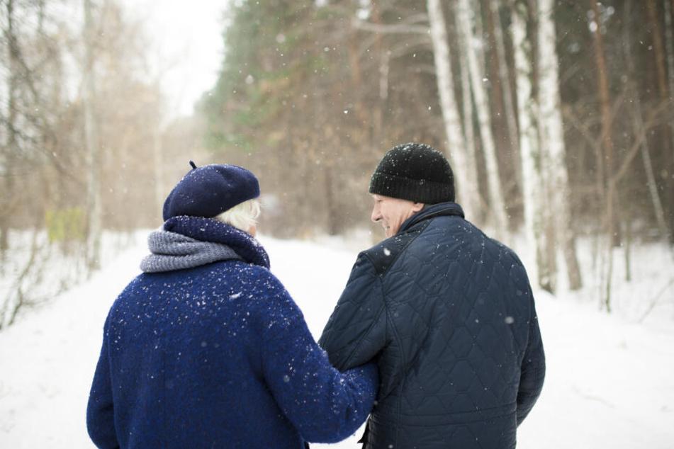 Das ältere Paar hatte bei einem Spaziergang im Wald die Orientierung verloren. (Symbolbild)