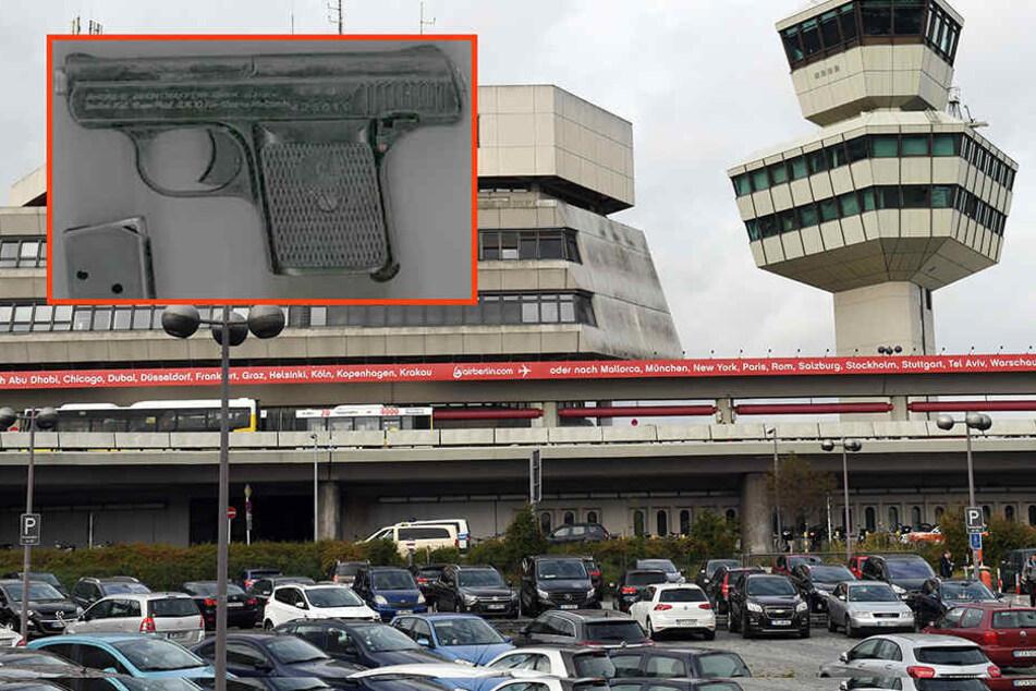 Am Flughafen Tegel wurde eine Seniorin (76) mit dieser Schreckschusswaffe erwischt.