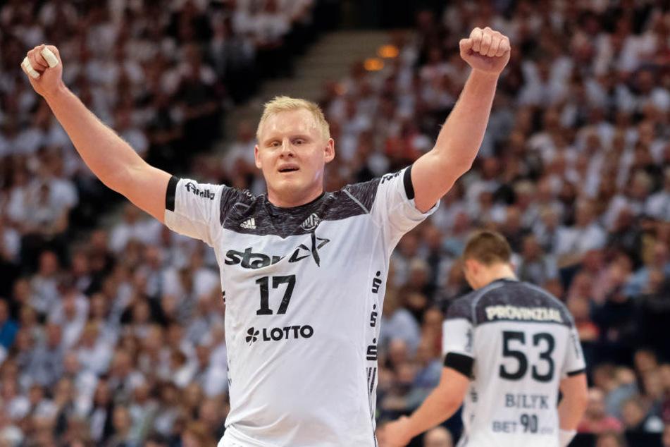 Grund zu Freude: Der Kieler Patrick Wiencek zog mit seinem THW ins Finale ein.
