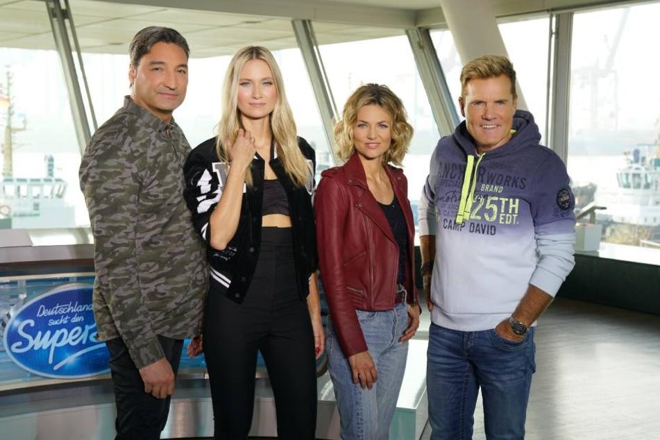 Die neue Jury (v.l.): Mousse T, Carolin Niemczyk, Ella Endlich und Dieter Bohlen.