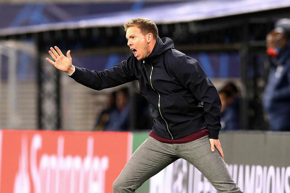 Wie immer on fire: RB-Trainer Julian Nagelsmann (33).