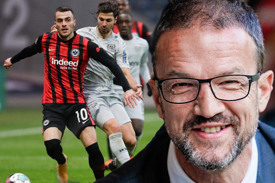 Zweimal hat Fredi Bobic (49, r.) Filip Kostic (28, l.) schon verpflichten können. Nach Berlin wird er den Serben aber nicht locken können. (Bildmontage)