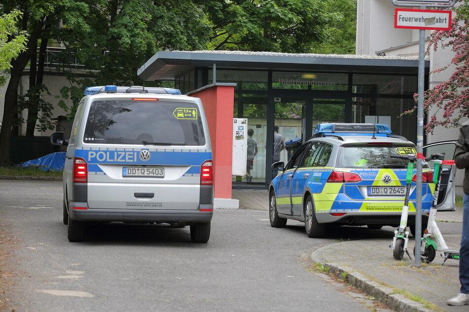 Das Hochhaus wurde zwischenzeitlich von der Polizei abgeriegelt.