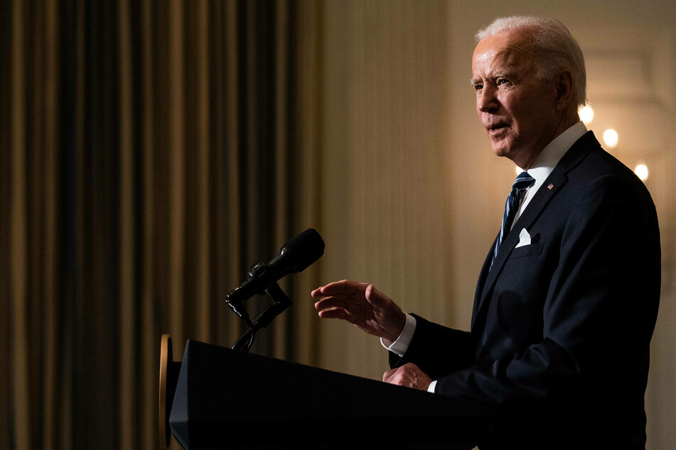 President Joe Biden (78) delivers remarks on his administration's response to the climate crisis.