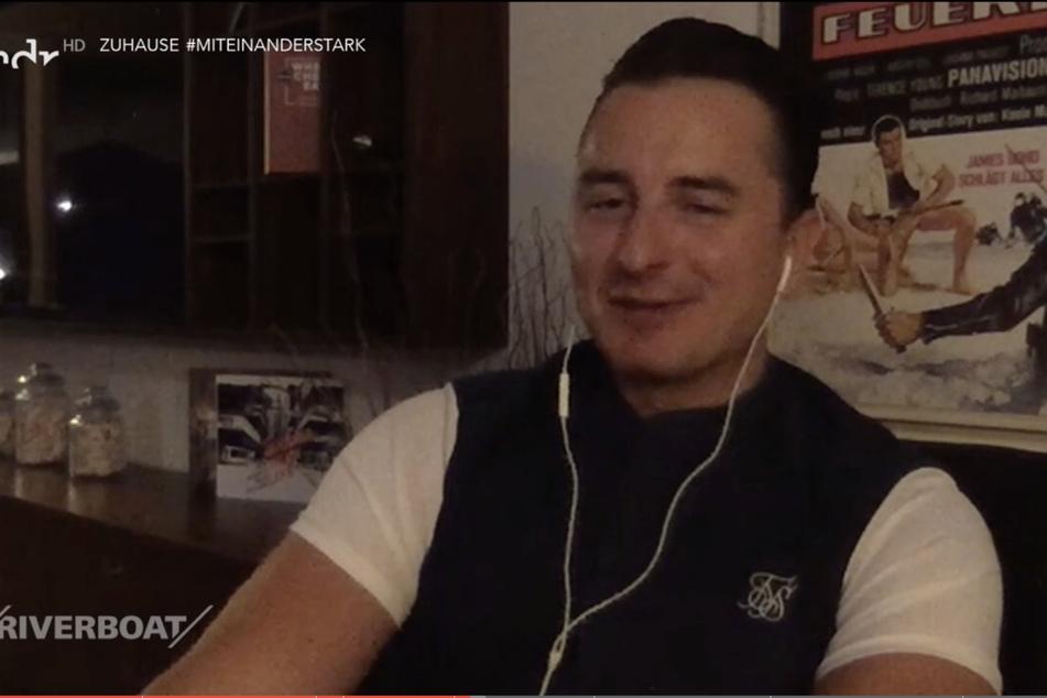 Andreas Gabalier (35) war am Freitag live aus seiner Almhütte zugeschaltet.