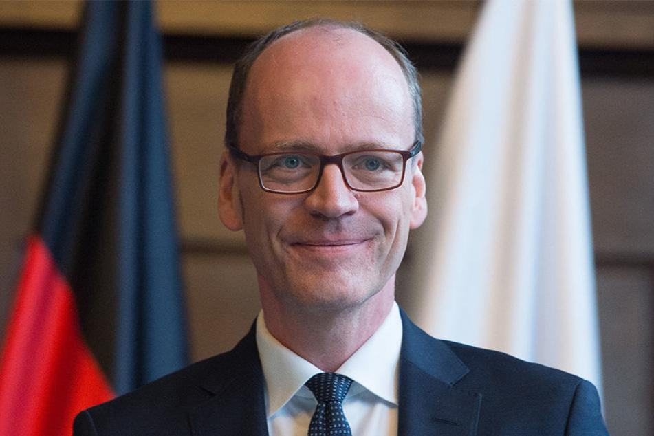 Sachsens neuer Finanzminister Matthias Haß (51, CDU): Die Mehreinnahmen sind schon im Haushalt eingepreist.
