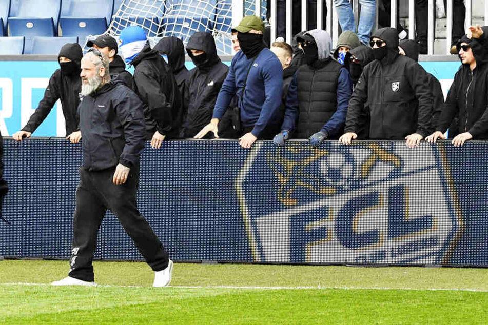 Anhänger des Grashopper Club Zürich sorgten für einen Spielabbruch.
