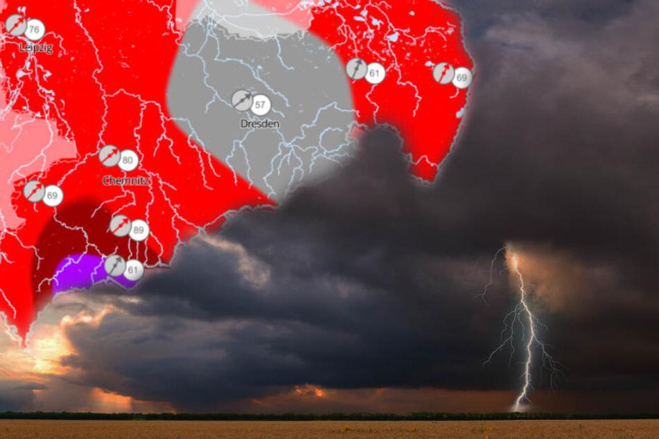 Haltet Euch Fest! Heftige Sturmfront in Sachsen erwartet