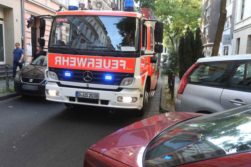 Ein Feuerwehrauto der Düsseldorfer Feuerwehr.