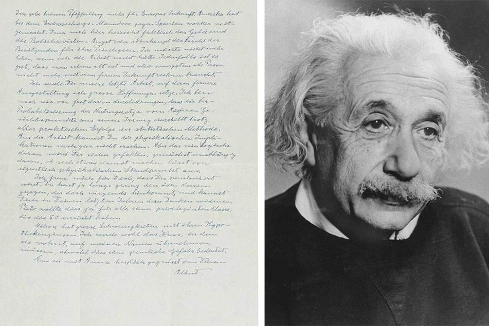 Er hatte Europa aufgegeben! Brief von Albert Einstein versteigert