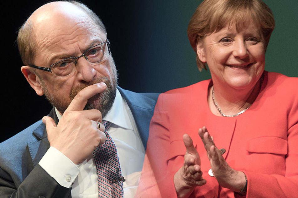 Besorgte Mine bei der SPD, Hände klatschen bei der CDU. (Bildmontage)