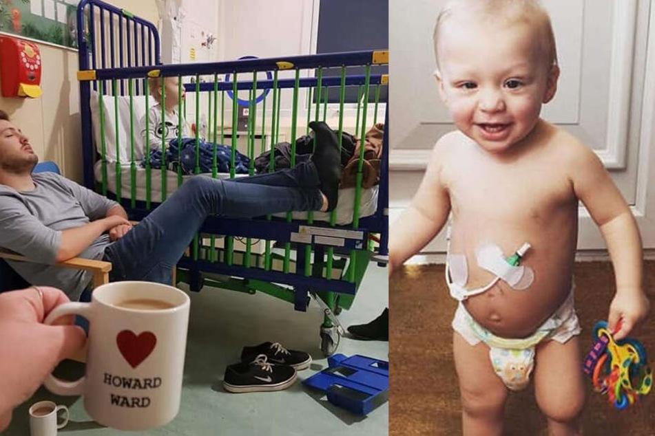 Der kleine Jaxson verbrachte viel Zeit im Krankenhaus.