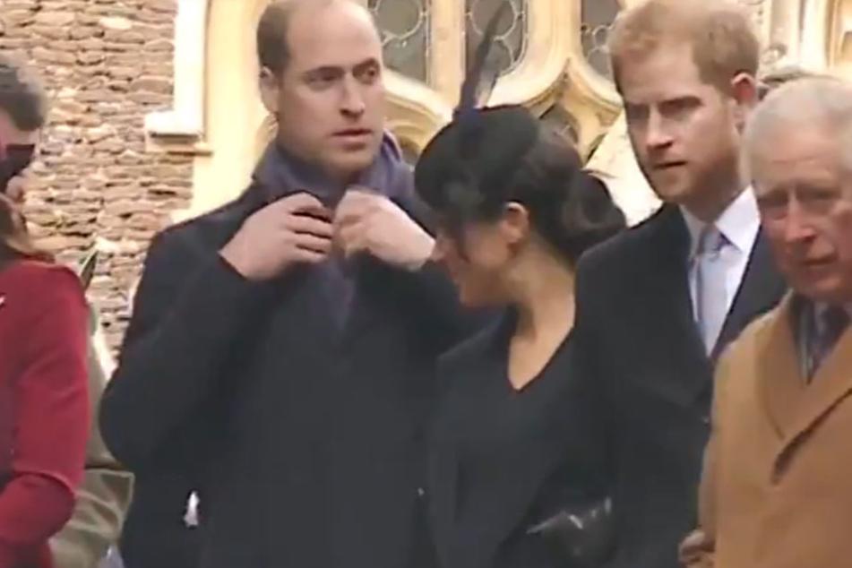 Versucht William seine Schwägerin Meghan hier etwa zu ignorieren?