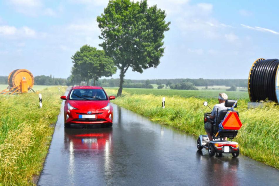 94-jähriger Geisterfahrer im Rollstuhl auf Bundesstraße unterwegs