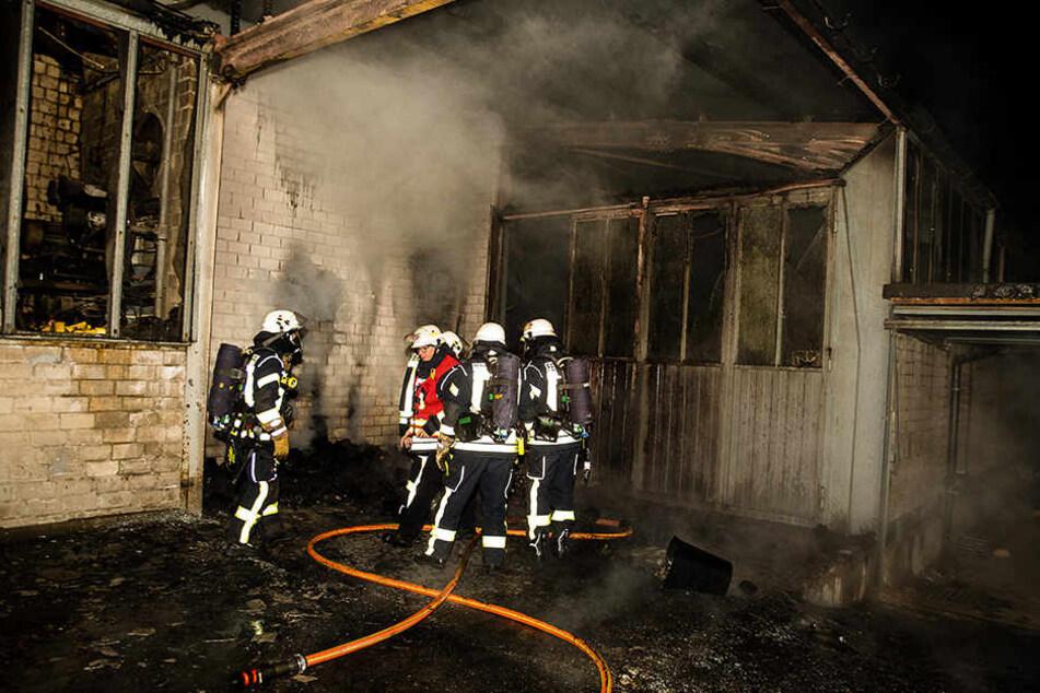 30 Feuerwehrleute waren in der Nacht im Einsatz.