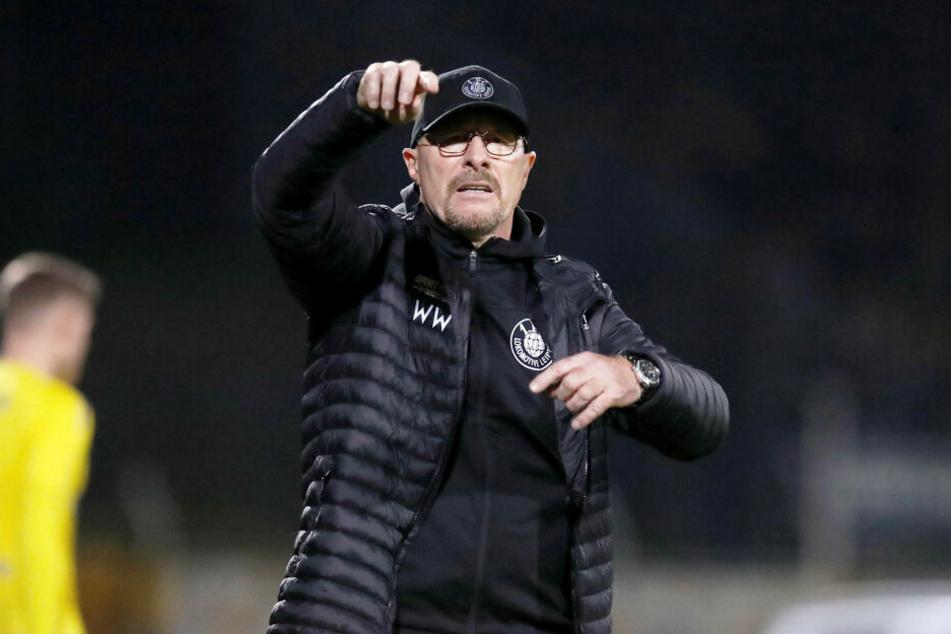 Sprang mit Lok Leipzig für eine Nacht an die Tabellenspitze: Lok-Coach Wolfgang Wolf.