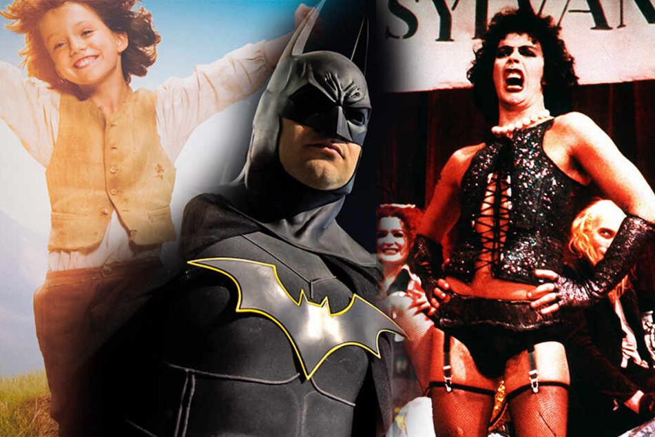 """v.Li.: Heidi, Batman und """"The Rocky Horror Picture Show stehen ebenfalls auf der Liste der nicht feiertagstauglichen Filme."""