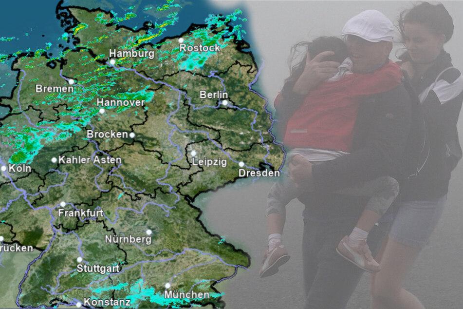 Sturmwarnung! Gebietsweise orkanartige Böen möglich