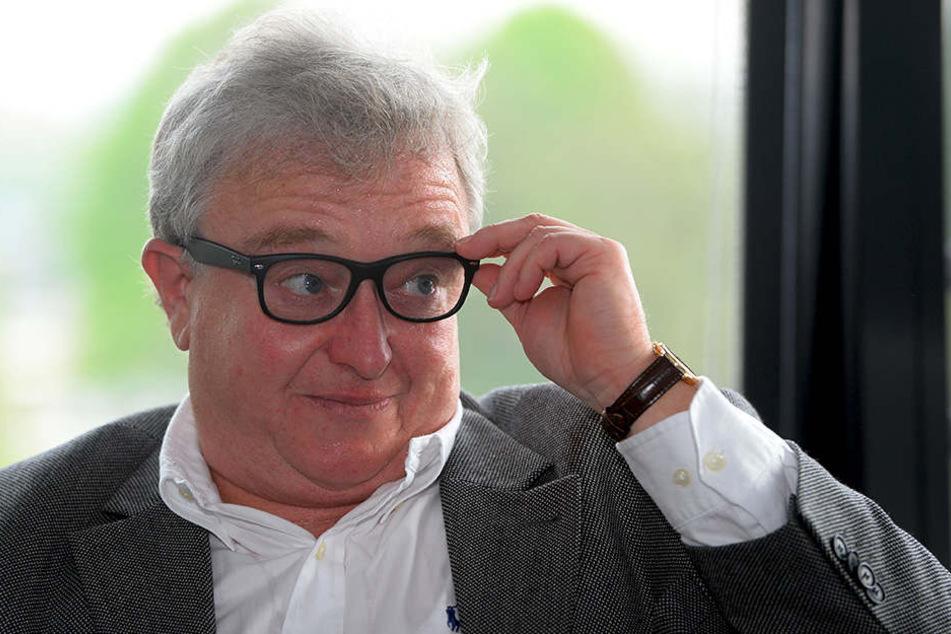 Mutig! Eislöwen-Geschäftsführer Volker  Schnabel fordert die Umsetzung der Auf- und Abstiegsregelung.