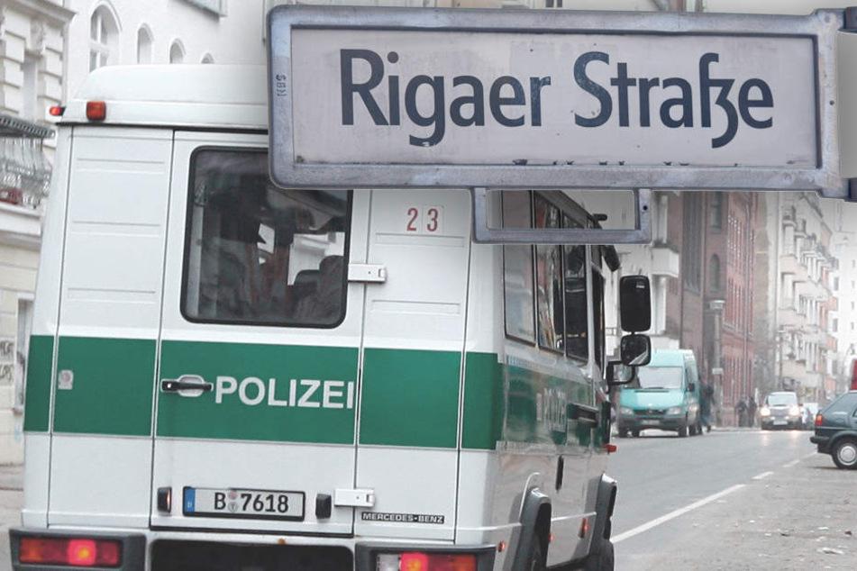 Die Rigaer Straße ist bekannt für seine linke Szene. Bereits in den letzten Wochen kam es im Vorfeld des G20-Gipfel auch in Berlin zu Ausschreitungen im Kiez. (Bildmontage)