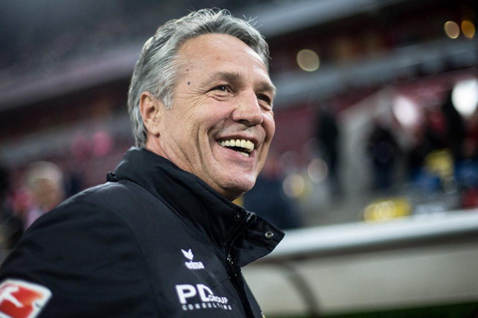 Hatte wahrlich nichts zu meckern: Dynamo-Trainer Uwe Neuhaus.