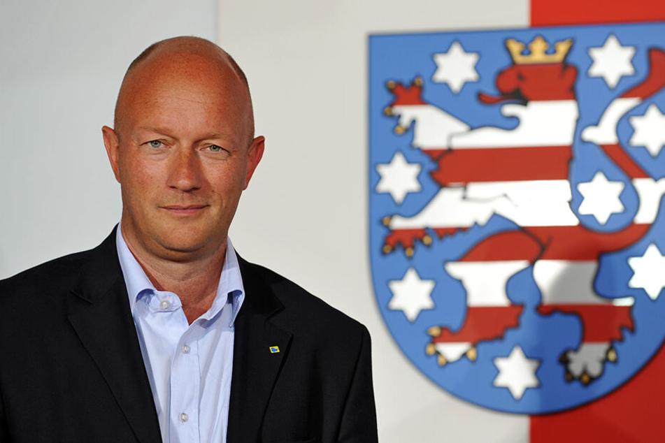 Thomas L. Kemmerich. Bereits 2009 mit wenig Haupthaar.
